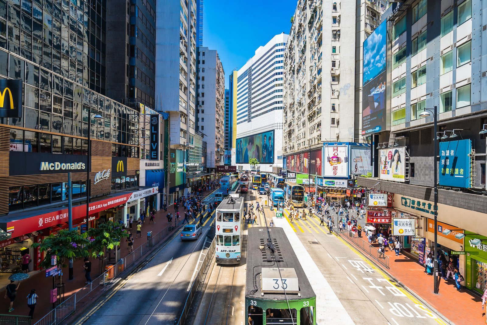Hennessy Road from above